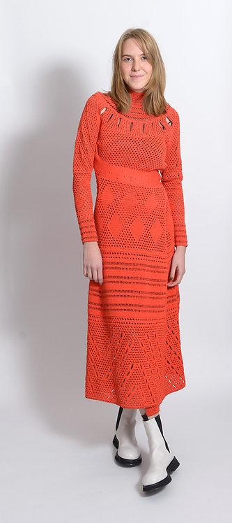 Crochet crew neck Dress