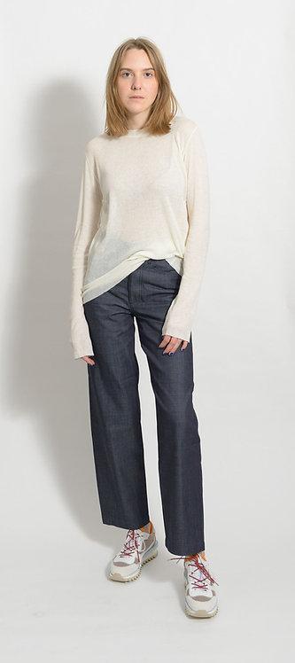 Cotton Cashmere Ribbed T-Shirt