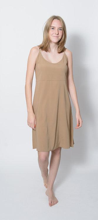 Scoop Neck Charmeuse Mini Dress