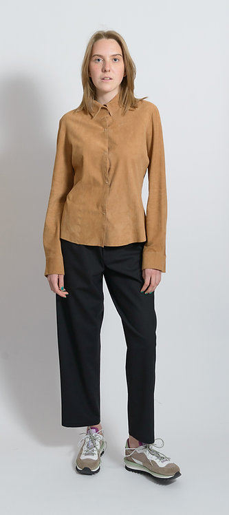 Suede Leather Blouse
