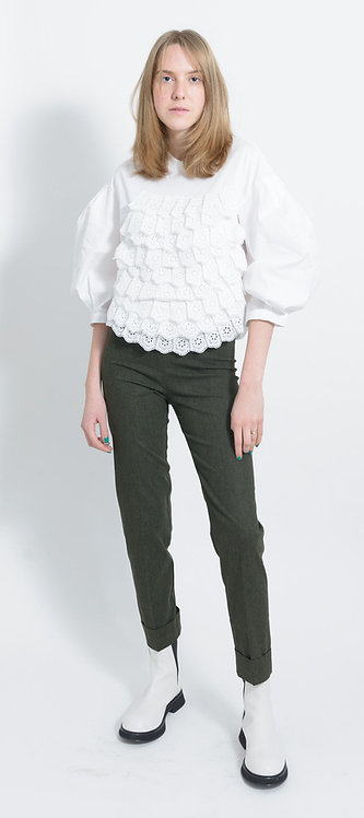 Broderie Anglaise Panelled Blouse