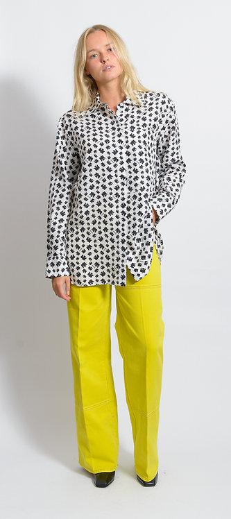Geometric-Print Button-Up Shirt
