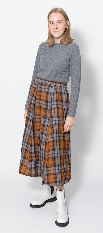 Linen Tartan Check Skirt