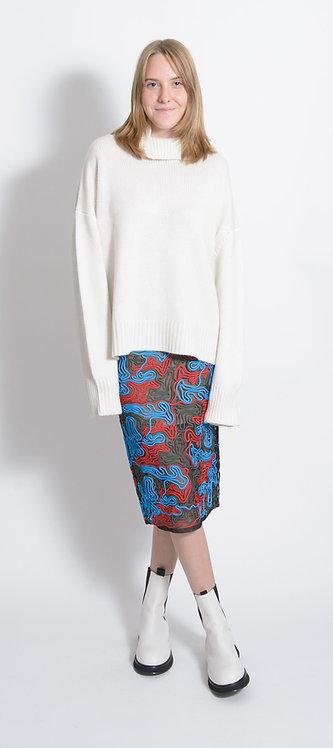 Exposed Seam Mesh Skirt