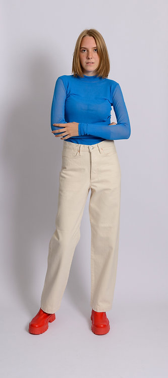 Long-Sleeved Fine Knit Top
