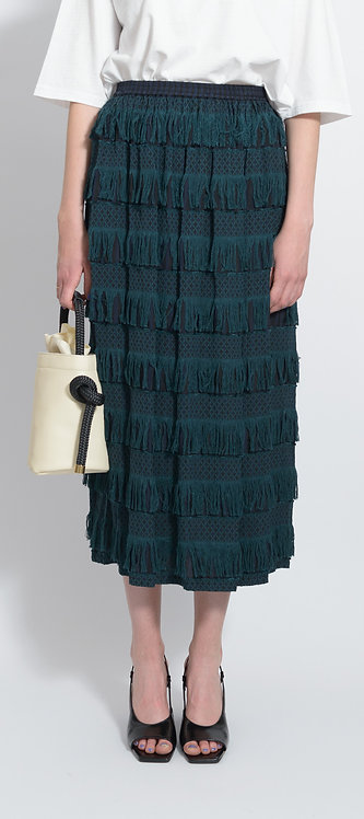 Green Fringe Skirt