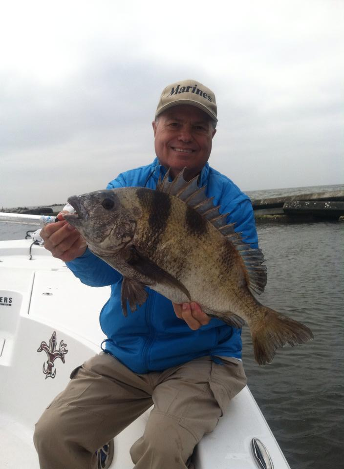 Mississippi fishing for sheepshead