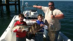 kids fishing on southern comfort