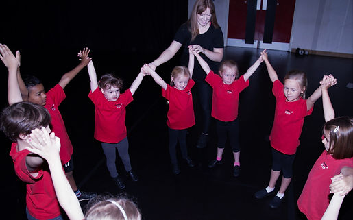 Young children in a drama class