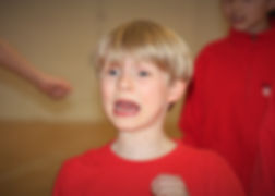 Child acting in drama class