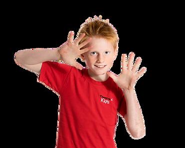 Child in Theatre4kids uniform