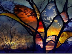 Incredible Abstract Stained Glass Image[