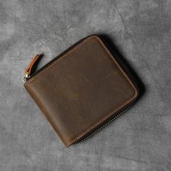 Crazy_Horse_Leather_Short_Wallet_Men_Zip