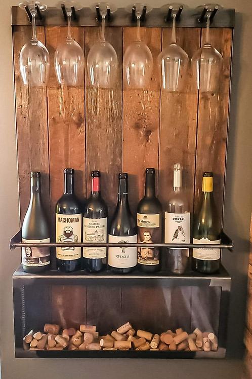 Support à vin et bouchons