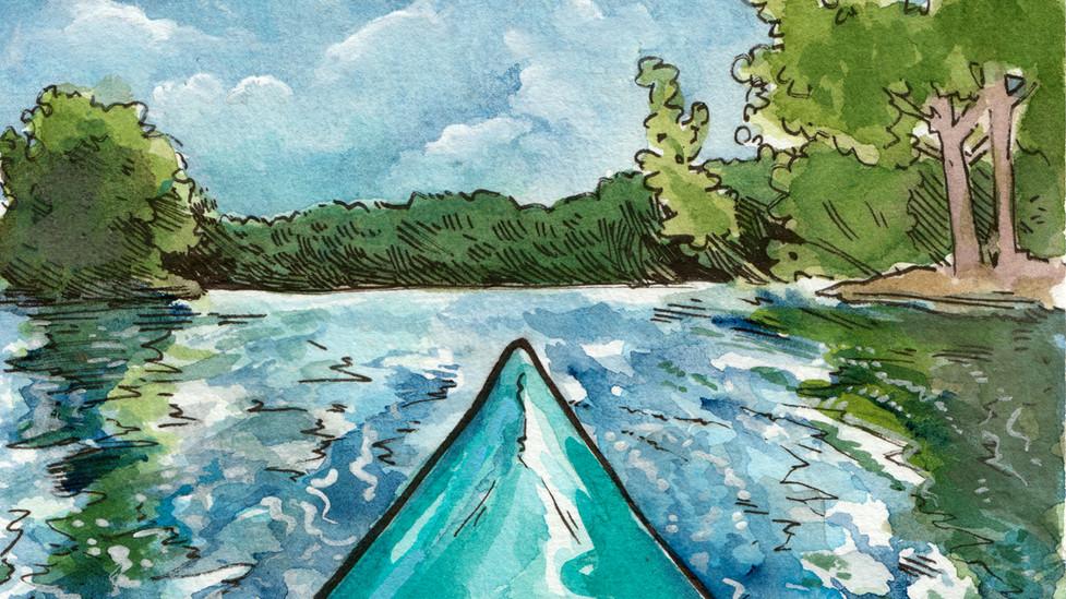 Kayaking Backdrop