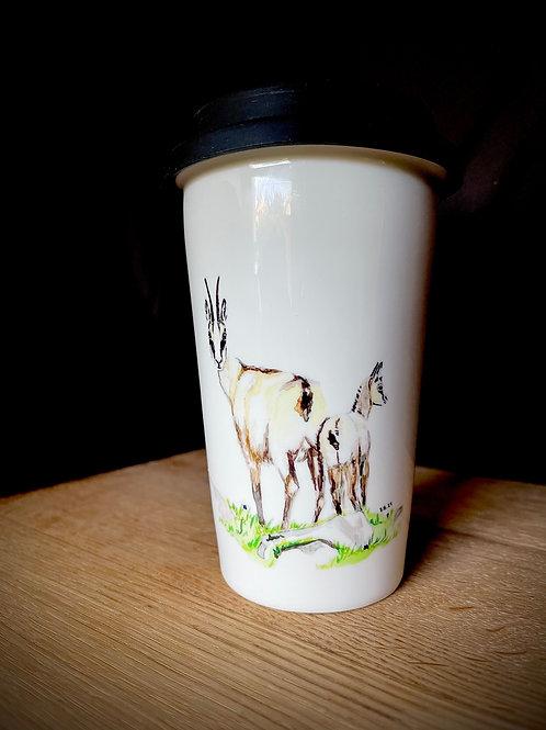 Keramik ToGo Becher   Motiv: Gams