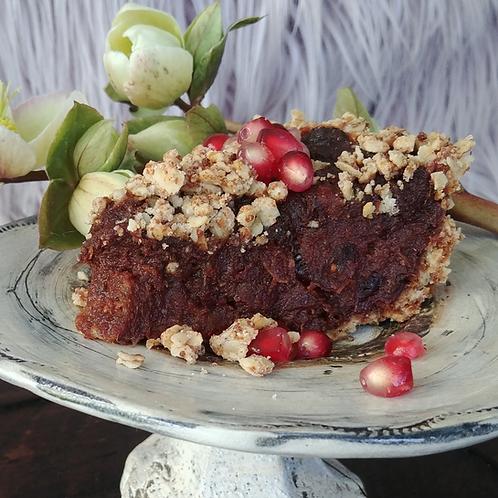 Chocolate Date Tart        (wheat and dairy-free)