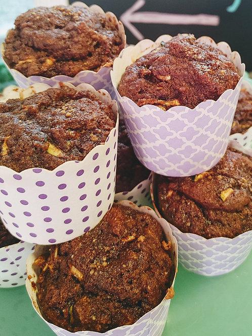 Chocolate Zucchini Muffets     (wheat and dairy free)