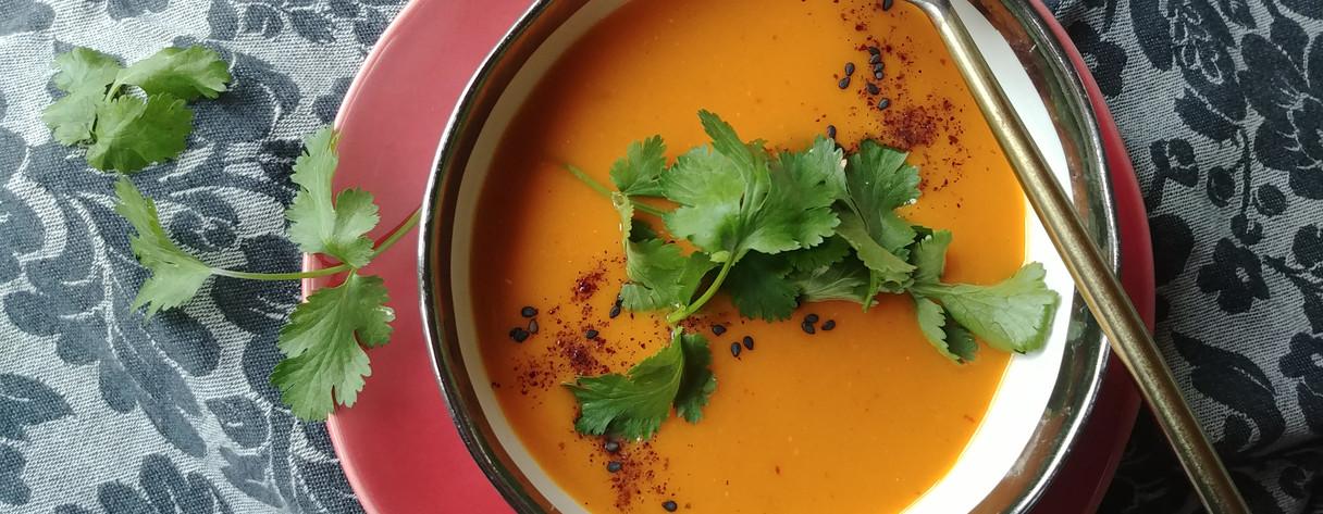 Sweet Potato Red Lentil Thai Curry Soup