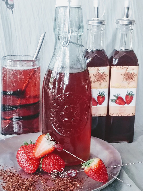 """Rooibos with Strawberry and Hibiscus Botanical """"Teazer"""" Syrup"""