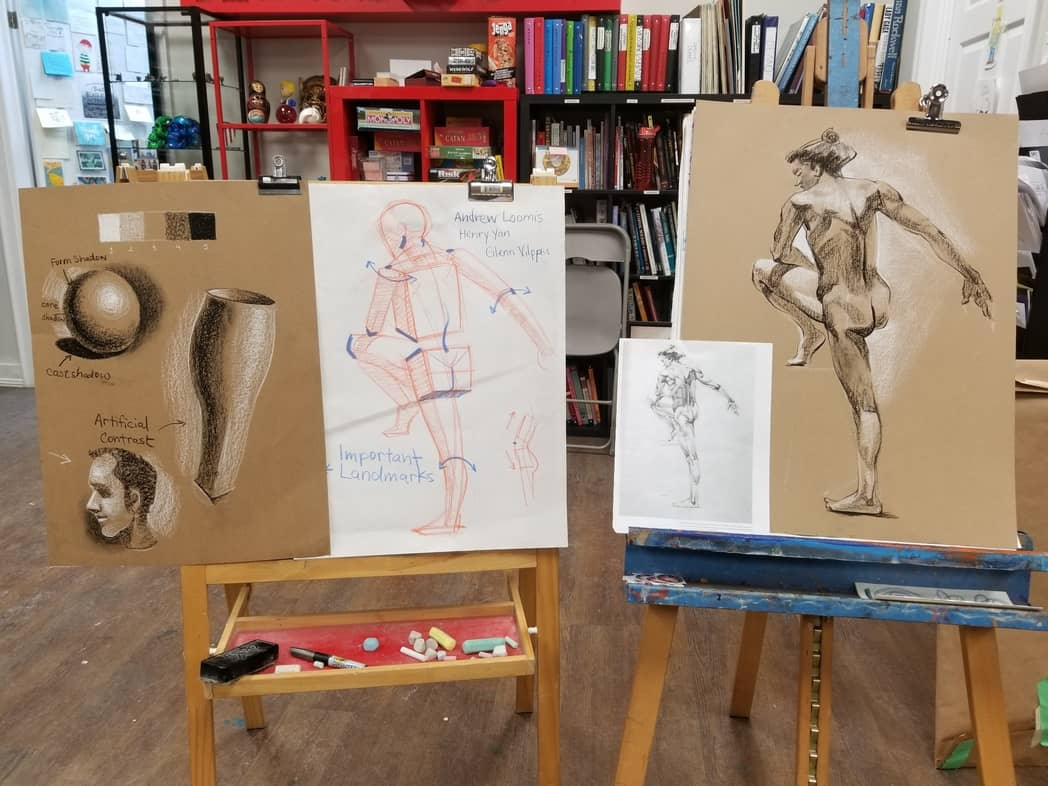 figure drawing lesson demos