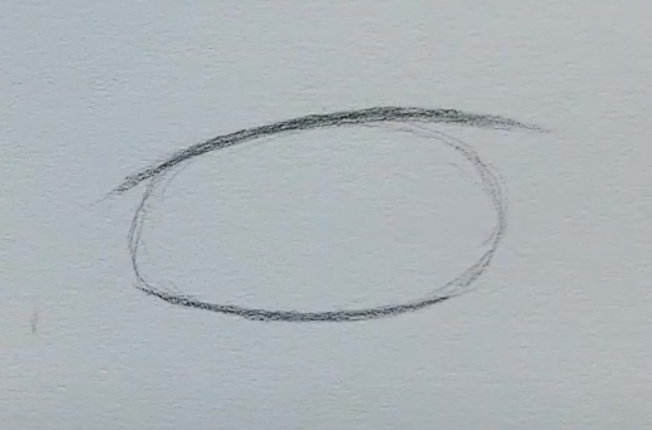 How to draw a male anime eye in pencil - step 2 - adding lash line