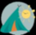 Summer Art Camp tent illustration