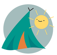 Summer Art Camp tent illustration