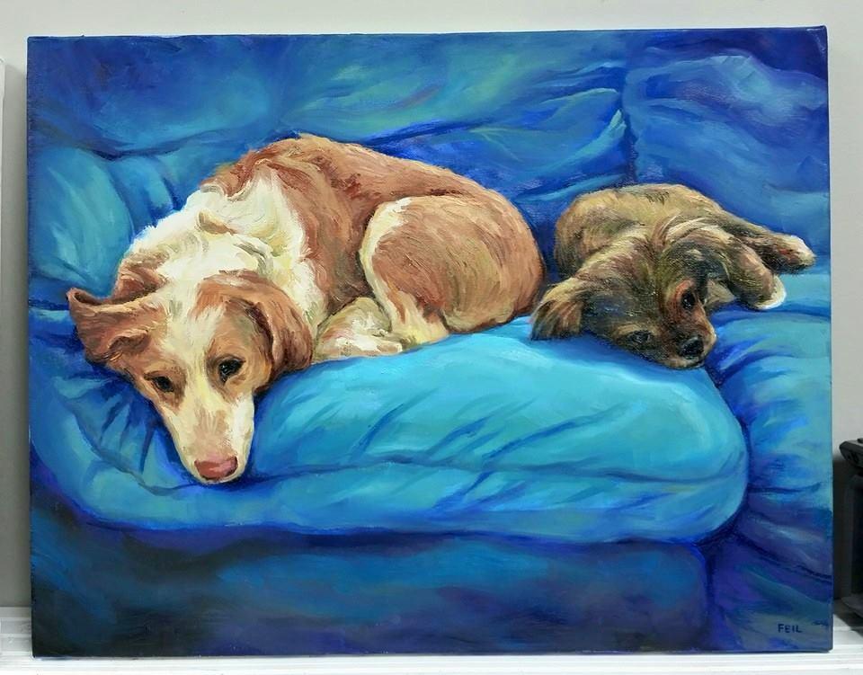 Custom Dog Portraits Fei Lu