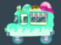 Digital Art futuristic ice cream truck