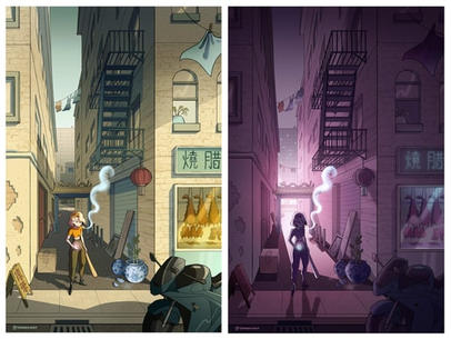Day and Night in Chinatown