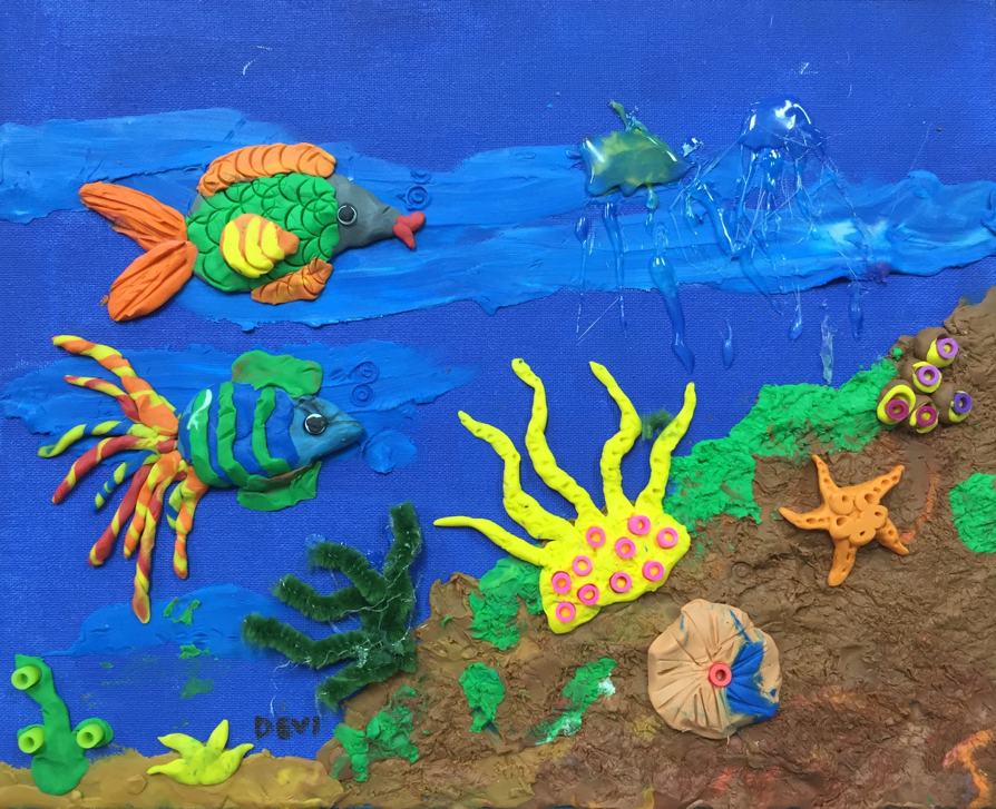 Underwater Art Sculptures Winged Canvas