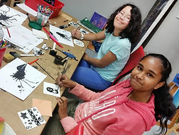 Two teenagers at Summer Art Camp in Markham