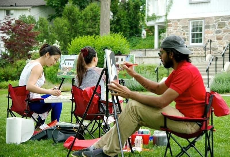 People painting en plein air