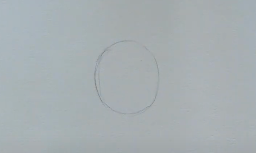 How to draw female anime eyes in Pencil - Step 1: Drawing a Circle