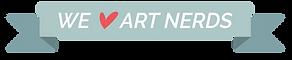 We love art nerds banner