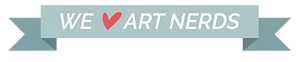 We love art nerds banner