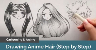 How to Draw Female Anime Hair in Pencil: Bangs, Pigtails and Ponytails