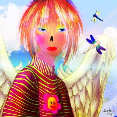Blue Sky Art Girl