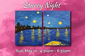 Easy Starry Night Van Gogh Painting 2 panel