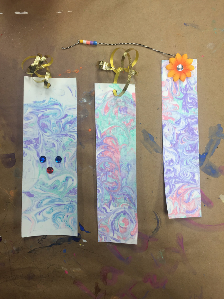 Shaving Cream Bookmarks Markham Summer Art Camp