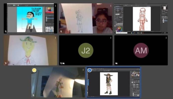 Online Art Camp for Tweens