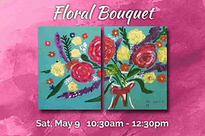 Easy 2 panel floral painting bouquet of flower