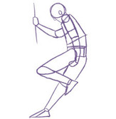 Teen Intensives_ Figure Drawing - A digitally drawn figure of a person leaning against a w