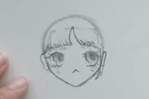 anime girl with detailed bangs