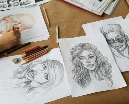 portrait drawings in pencil