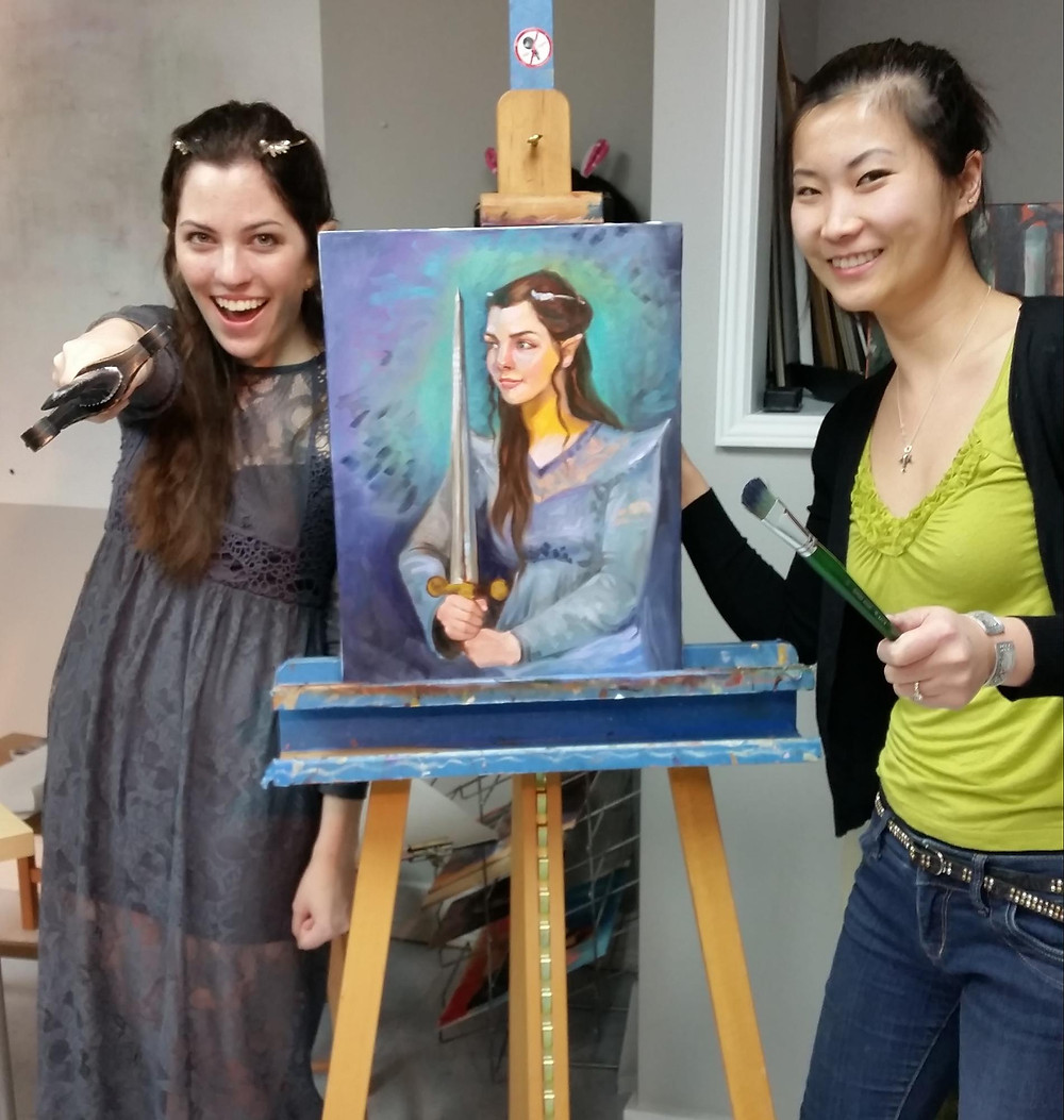 Oil Painting with Fei Lu