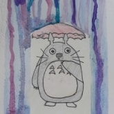 tototro holding umbrella drawing