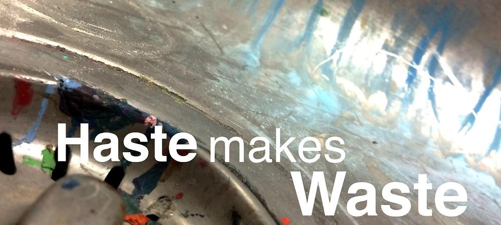 Oil Painting tip - haste makes waste