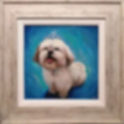 framed dog painting framing frame pet po